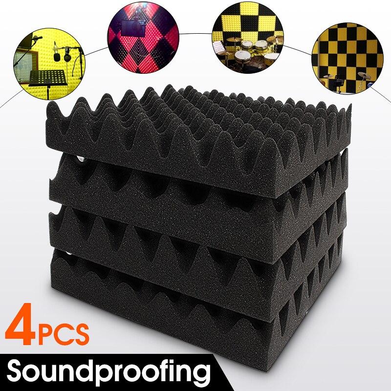 4Pcs 30X30X6cm Soundproofing Foam Egg Crate Studio Acoustic Foam Sound Absorption Treatment Panel Tile Wedge Hot Sale