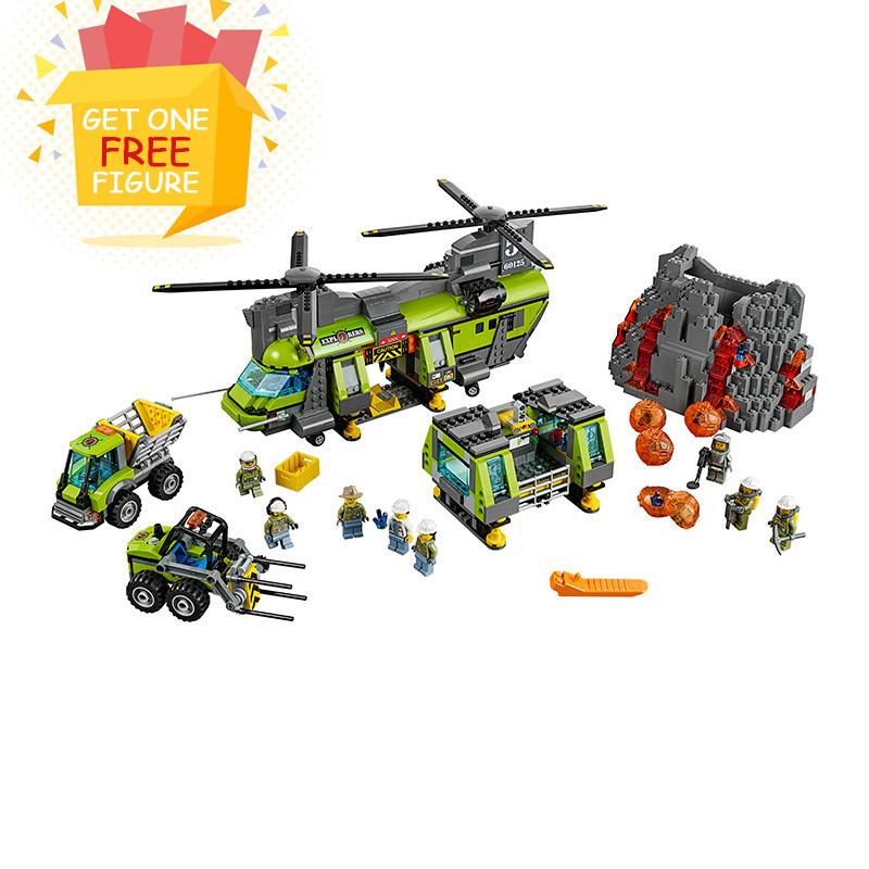 Здесь можно купить  Bela Pogo Compatible Legoe City Urban Volcano Supply Helicopter Geological Prospect Figures Building Blocks Bricks toys for kids  Игрушки и Хобби