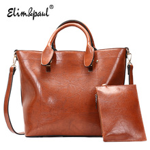 ELIM&PAUL Brand Fashion Designer Women Handbags Leather Top-Handle Tote Bag Large Capacity Bolsa Sacs Shoulder Bags YL-B01