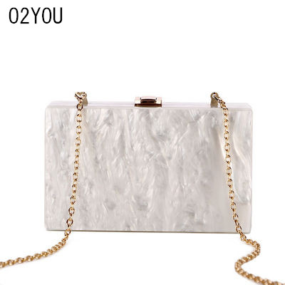 Beige Pearl Acrylic Clutch Box Bags 2108 Brand New women Shoulder Messenger Bride Evening Summer Brach Mini Acrylic Flap Bags free shipping 2015 top gifts new bride rhinestone evening bags punk colored acrylic diamonds clutch bag shoulder handbags 0430