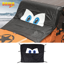 BAWA Car Windshield Anti Sunshad Snow Cover for Jeep Wrangler TJ JK JL 1997 2018 Frost Ice Shield Dust Protector Cover