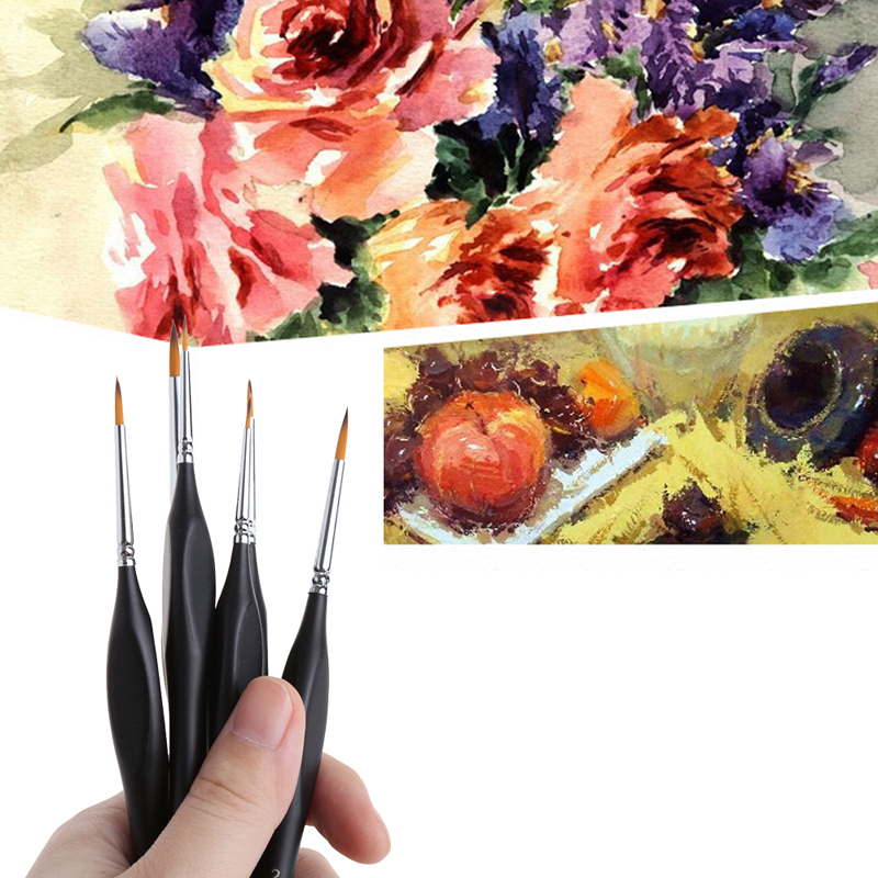6X Detail Paint Brush Set for Miniature Watercolor Acrylic Oil Painting Drawing Jul19_25 red shoes – and other tattered tales
