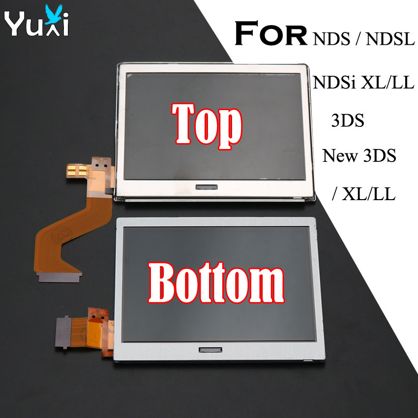 YuXi Top Upper & Bottpm Lower LCD Display Screen Replacement For Nintendo DS Lite For DSL For NDSL For 3DS New 3DS XL LL