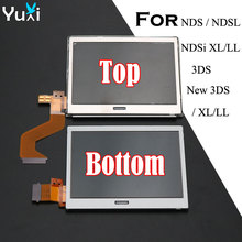 YuXi Top Upper & Bottpm Lower LCD Display Screen Replacement for Nintendo DS Lite For DSL For NDSL For 3DS New 3DS XL LL цена
