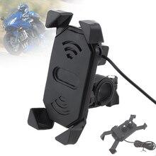 12-24 V DC 5V 2.1A USB ABS многофункциональное телескопическое поворотное зарядное устройство для мотоциклов 3,5-6 дюймовых мобильных телефонов