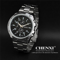 CHENXI Watches Men Top Brand Luxury Fashion Backlight Full Steel 3 Eye Relogio Masculino Men S