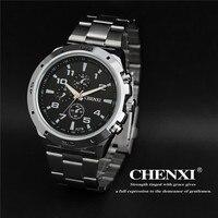 CHENXI Watches Men Top Brand Luxury Fashion Backlight Full Steel 3 Eye Relogio Masculino Men S