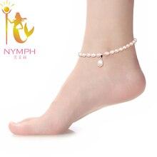 Нимфа пресноводный изящных перл естественный жемчуг браслеты изделий ювелирных женщин для
