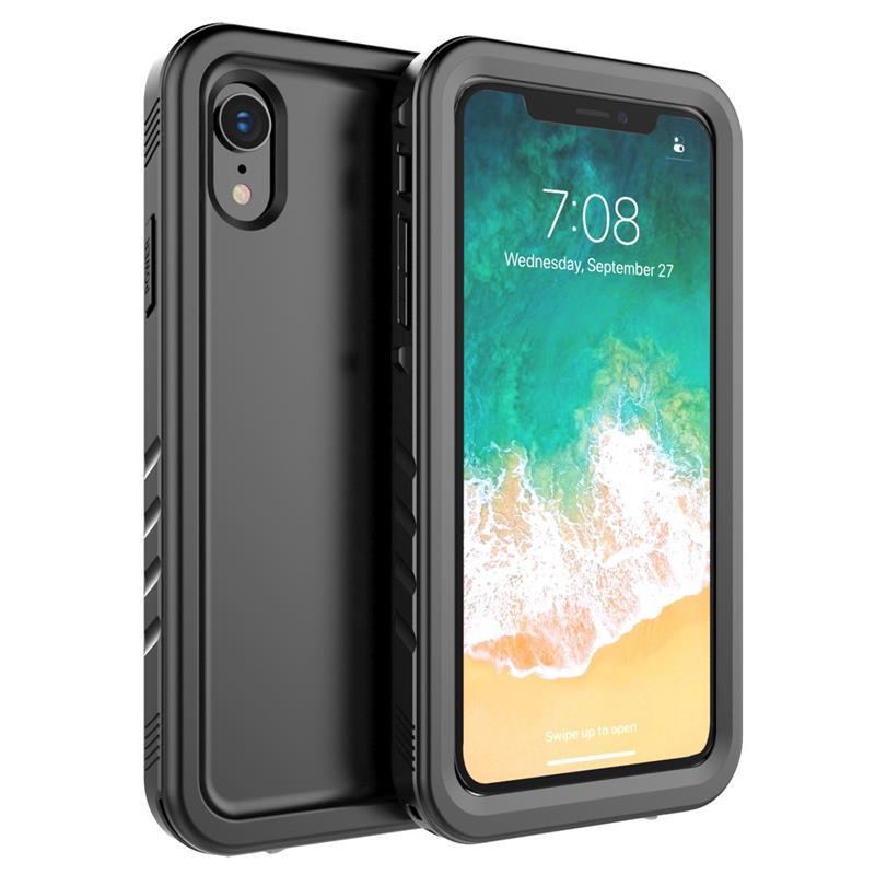 e4ff30c44a03 CASEWIN para iPhone X Xs Max Xr funda de protección de 360 grados a prueba  de golpes para iPhone 5 SE 5S 6 fundas de teléfono impermeables 6 S 7 8