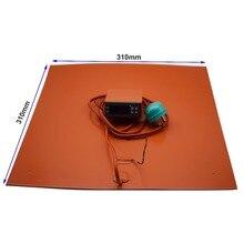 310-310 мм ультрабаза Кремниевая кровать с подогревом с цифровым контроллером для Creality CR-10 серии пусть Подогреваемая кровать до 100C нагреватель pad