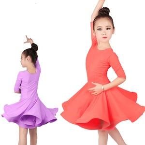 Image 2 - new Latin Dance Dress For Girls Latin Costume Child Kids Dancing Dress Girl Dancewear Kid Competition Latin Dress High Quality