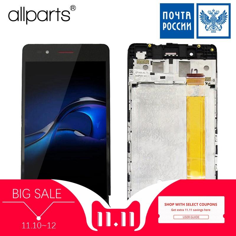 5.0 LCD D'origine Pour Highscreen Puissance GLACE EVO Affichage Écran Tactile Digitizer avec Cadre Remplacement Noir blanc Or