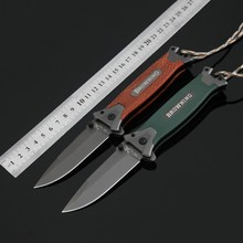 5CR13MOV Blade Survival Knife Browning Folding Knife G10 /Wood Handle Pocket Hunting Tactical Knives Camping Outdoor EDC Tools v