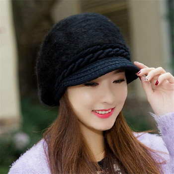 Fox fur ball cap winter hat women beanies cap 3