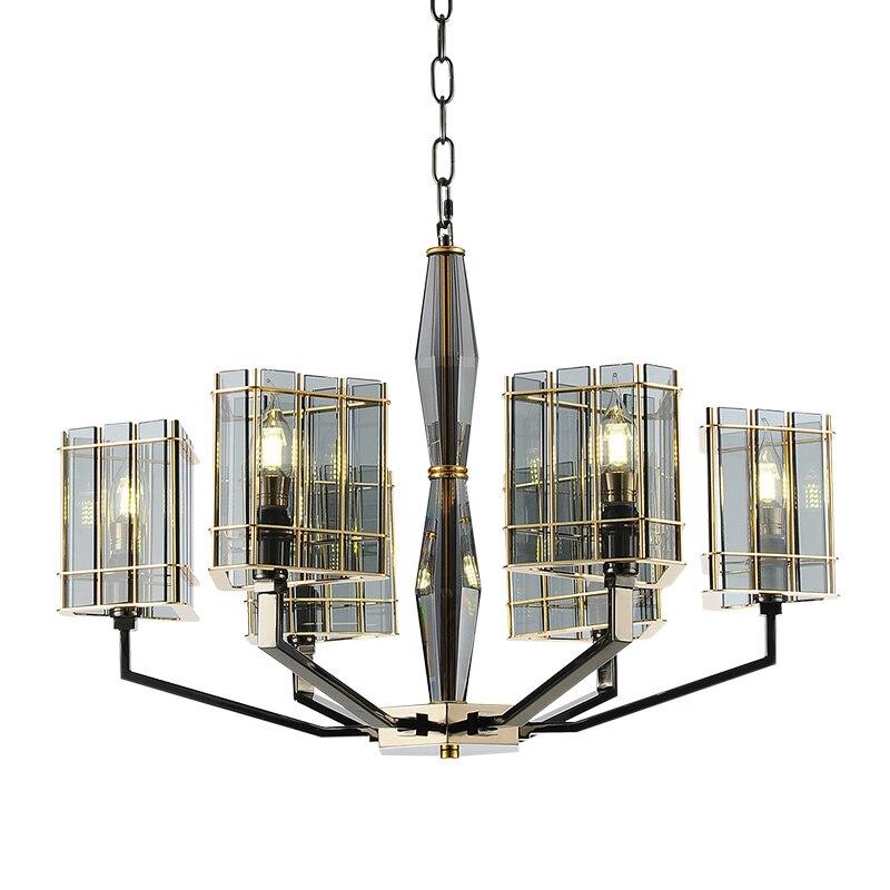 Пост современная стеклянная люстра освещение роскошное Искусство украшение свет 8 головы креативная гостиная фойе магазин зал Вила светодиодный свет