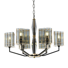 Post modern glass chandelier lighting Luxury art decoration light 8 head Creative living room foyer shop hall vila led