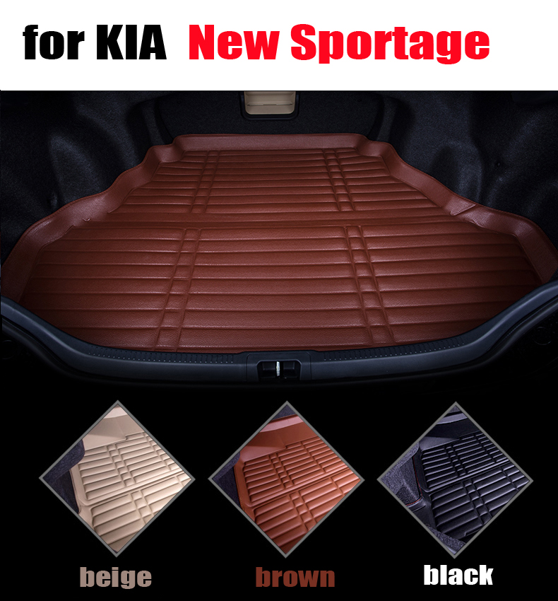 car trunk liner for KIA sportage 2005 to 2010 waterproof cargo liner all weather car pad cargo mats auto accessories car rear trunk security shield cargo cover for volkswagen vw tiguan 2016 2017 2018 high qualit black beige auto accessories