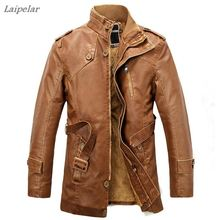 2018 warm autumn and winter mens leather jackets motorcycle jacket coat fast shipping Laipelar