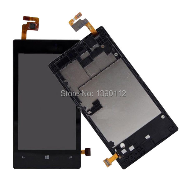 OEM For Nokia Lumia 520 LCD Display Touch Digitizer Screen Assembly + Back Frame