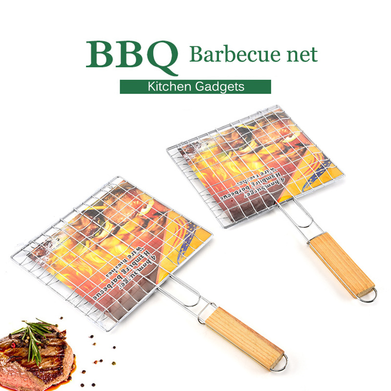 1 Pcs Hamburg Grilled Fish Clip Barbecue Net BBQ Tool for Outdoor Camping Picnic WXV Sale in Other BBQ Tools from Home Garden