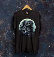 Lovers Kiss T Shirt Top Dead Love Death Skull Sad Bones Gift Presen Design 2017 Summer