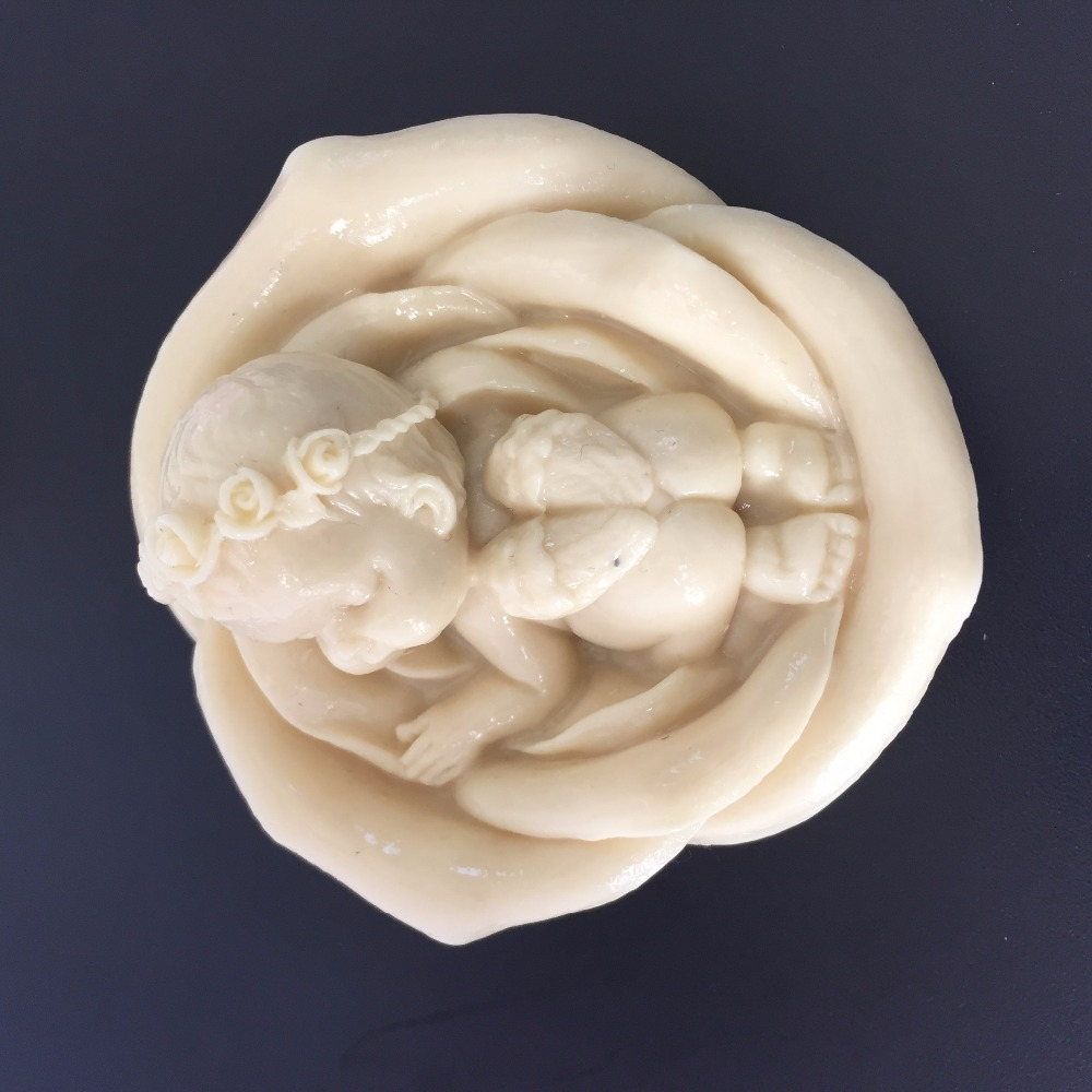 Baby Sink angel Silicone molds angel soap mold angels silicone soap molds angels silica gel die Aroma stone moulds candle mould|candle mould|stone mould|silicone soap mold - title=