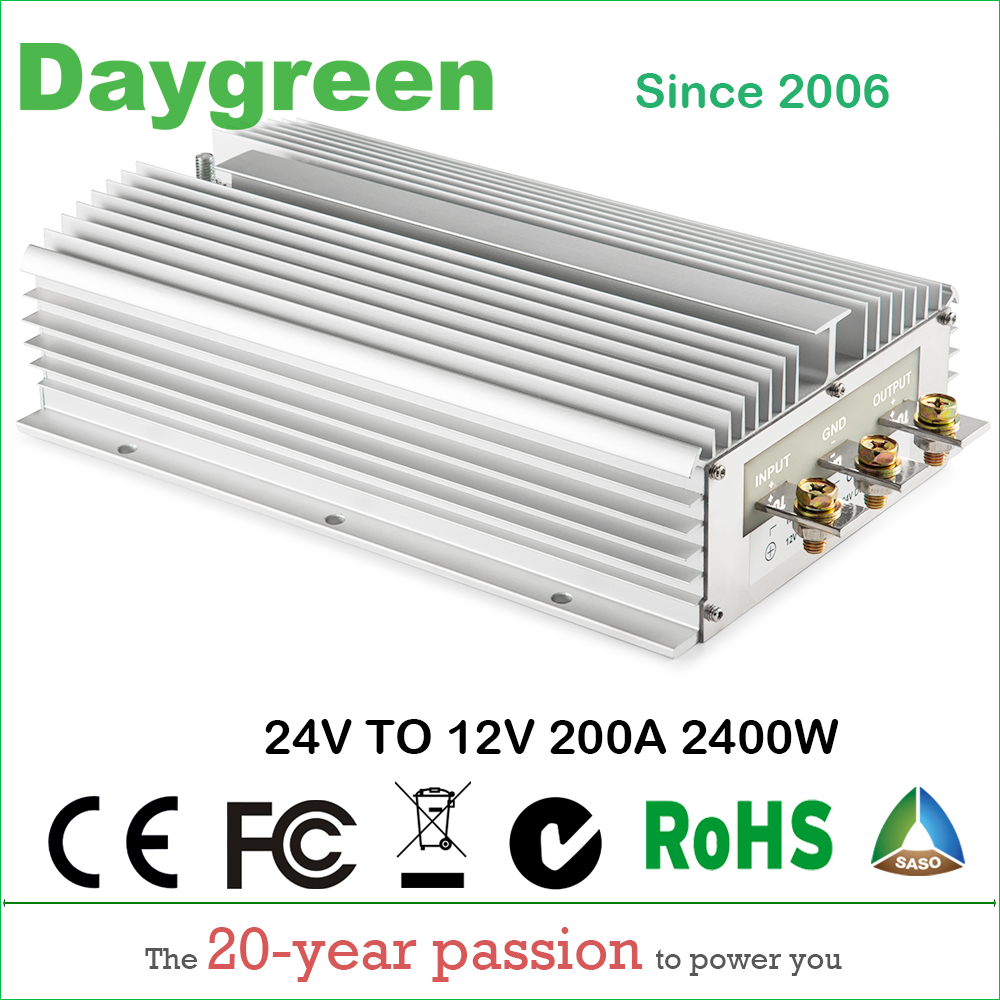 цена на 24V to 12V 200A (24VDC TO 12VDC 200AMP) Newest Hot DC DC Step Down Converter Reducer B200-24-12 Daygreen CE RoHS Certificated