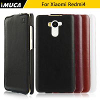 Xiaomi Redmi 4 Case Cover Original IMUCA Flip Leather Case Capa Xiaomi Redmi 4 Pro Prime