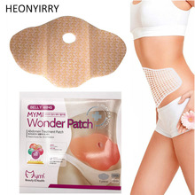30 dage 10Pc MYMI Quick Wonder Slankepatch Belly Slim Patch Abdomen Vægttab Fedtforbrænding Creme Navel Stick Effektivitet Slimer
