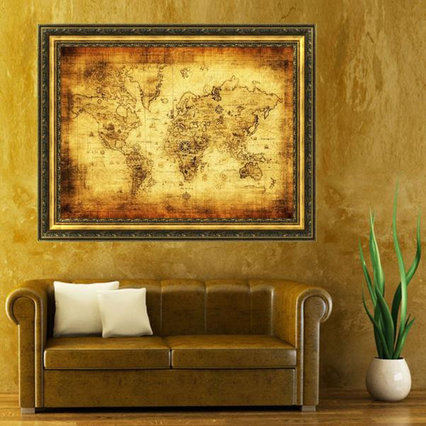 A big vintage style cloth poster globe old world nautical map gifts a big vintage style cloth poster globe old world nautical map gifts world map home decoration gumiabroncs Gallery