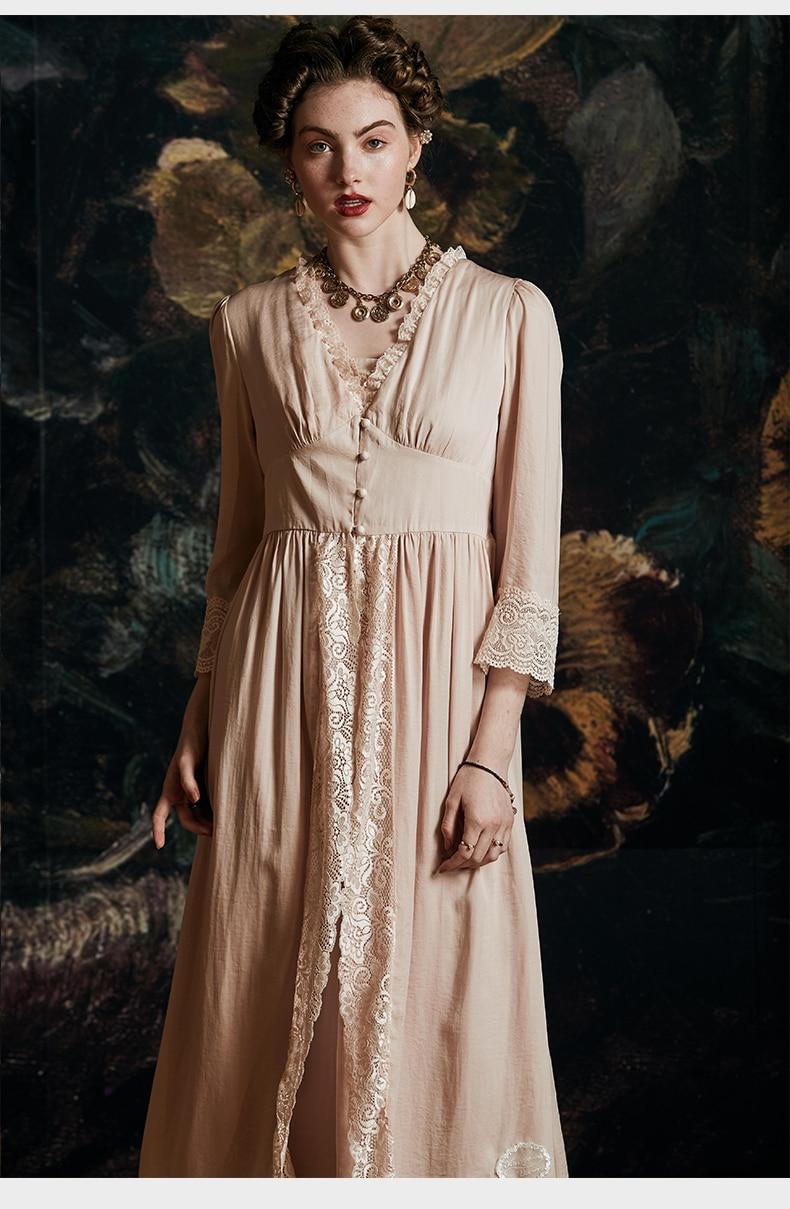 Lady Robe Romantic Sleepwear  Night Gown Woman Robe Suit Luxury Sexy Nightgown Long Dress  Elegant Robe Bride Dressing Gown