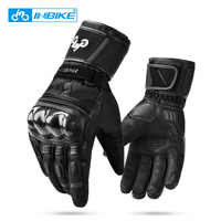 INBIKE Winter Thermal Motorcycle Gloves Windproof Motorbike Gloves Touch Screen Men's Cycling Bike Racing Moto Bicycle Gloves
