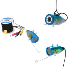 GAMWATER 1000tvl Underwater Fishing Cable+ Camera with 12 PCS LED white Lamp Lights