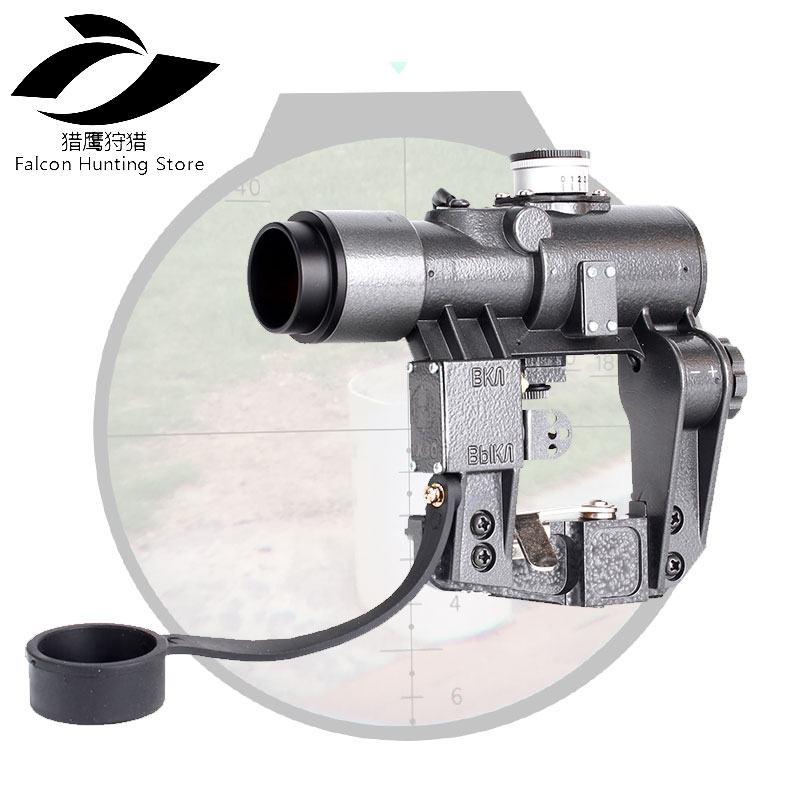 Tactical Optics Sights 1X30 SVD Red Illuminated Hunting Riflescope fits for Tigr SKS Style Side Mount