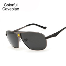 New 2017 Men Sun Glasses Polarized Popular Man Dark Glasses High Quality Classic Big Frame Male Sunglasses