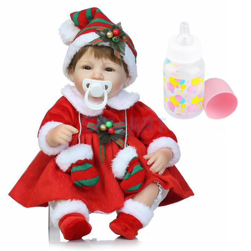 Real Looking 16inch Reborn Doll Silicone Newborn Baby Doll Christmas Gift Toy Home Ornaments deelfel new brand shoulder bags for men messenger bags male cross body bag casual men commercial briefcase bag designer handbags