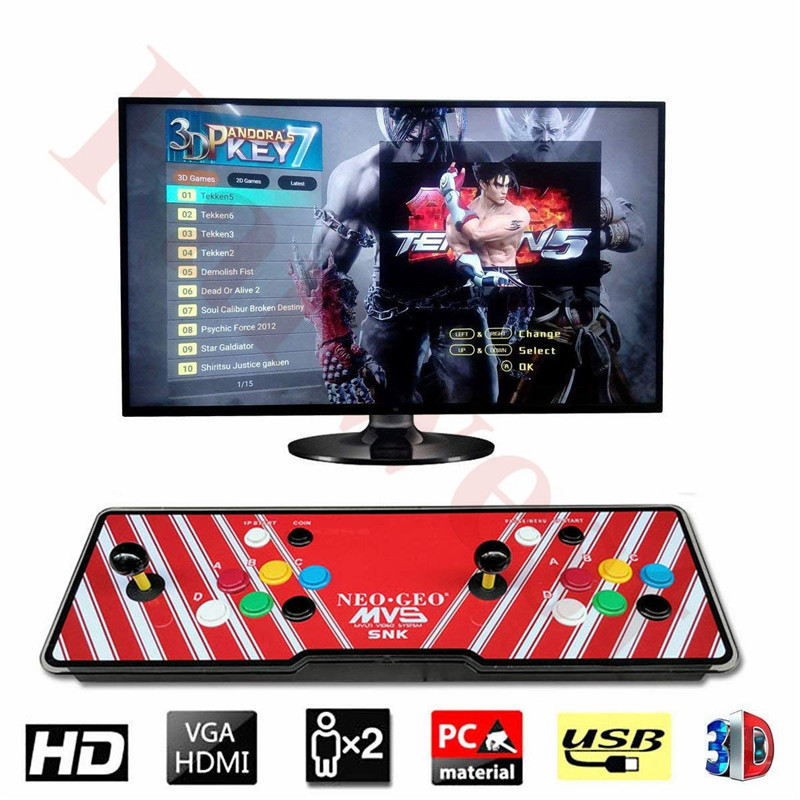 Dynamic 2 Player 2177 Hd Retro Games 3d Pandorakey 7 Box Arcade Game Console 1920x1080 Full Hd For Pc/laptop/tv/ps Controller Entertainment Coin Operated Games snk