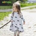 Nuevo diseño de la niña vestido de ratón de dibujos animados de otoño invierno primavera estilo princesa de los niños vestidos de los niños ropa de fiesta vestido de fiesta