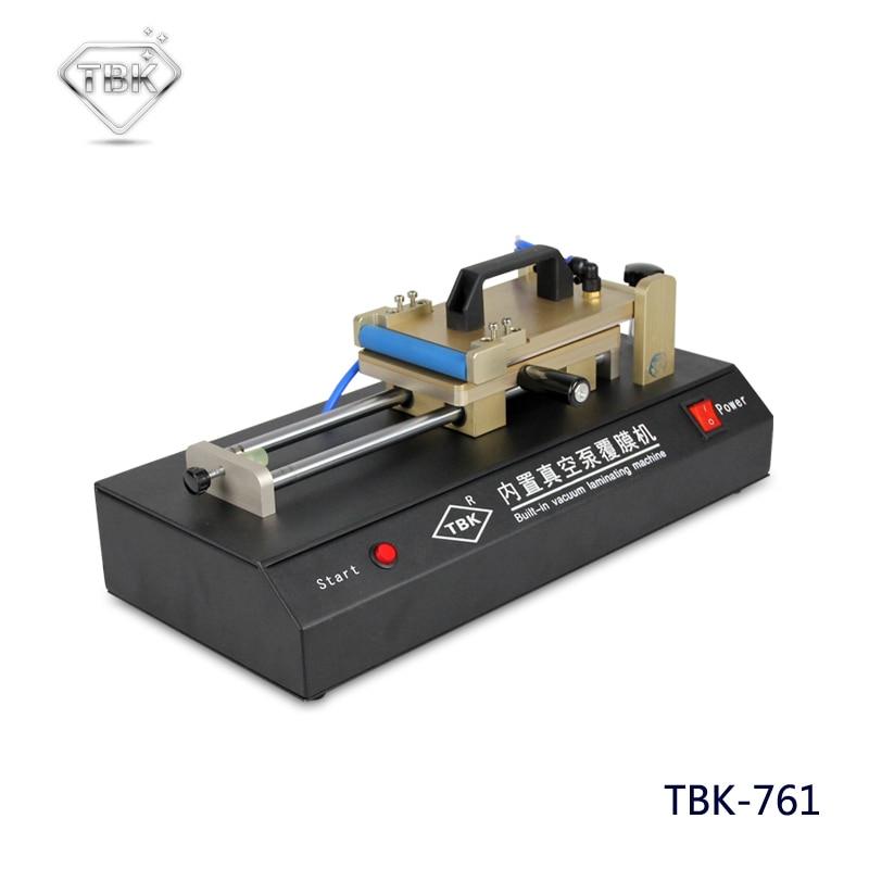 TBK-761 Встроенный вакуумный насос универсальная OCA пленка ламинирующая машина многоцелевой поляризатор для ЖК-пленки OCA ламинатор