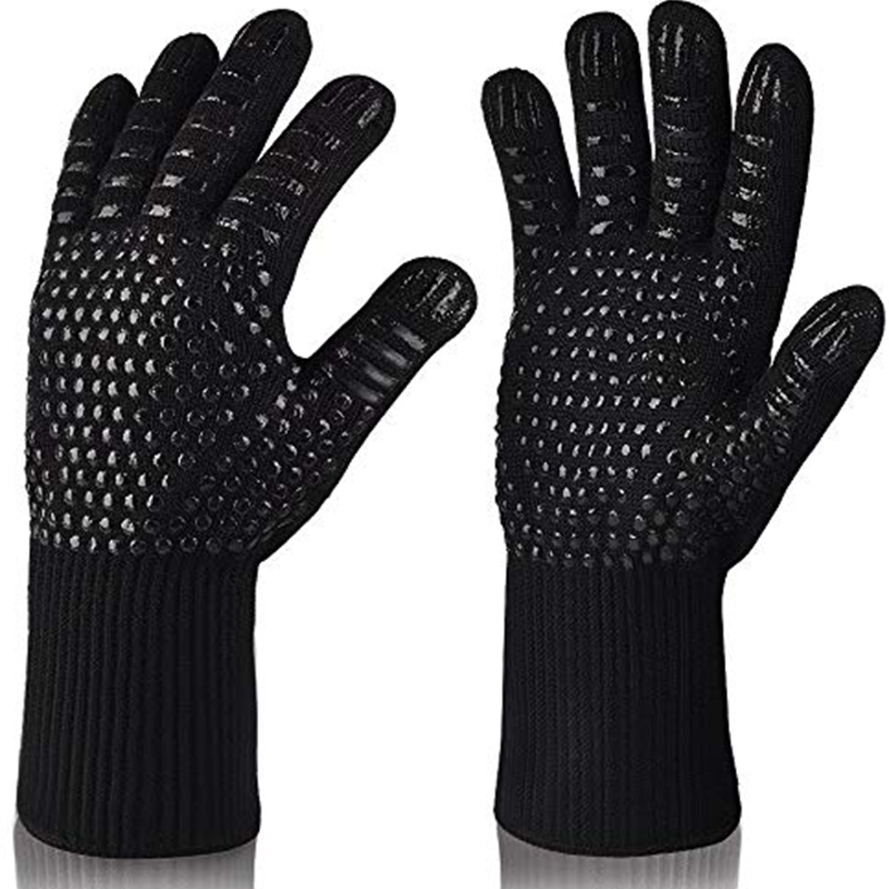 Walfos Heat Resistant Bbq Grill Gloves Premium Insulated