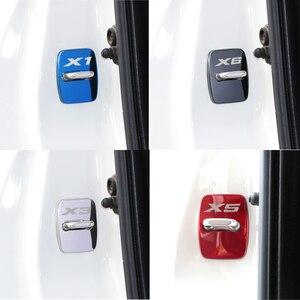 Image 5 - 4 stücke Auto Zubehör Aufkleber Styling Fall Für BMW 1 2 3 5 6 7 Serie X1 X3 X4 x5 X6 X7 E60 E87 E90 Türschloss Abdeckungen