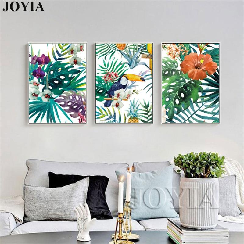 Watercolor Canvas Wall Art Rainforest Pl