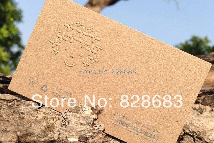 Hot Sale 200 Pcs Brown Kraft Card Custom Business Cards Printing