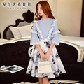 dabuwawa female shirt autumn new korean fashion loose flounced blouse women pink doll