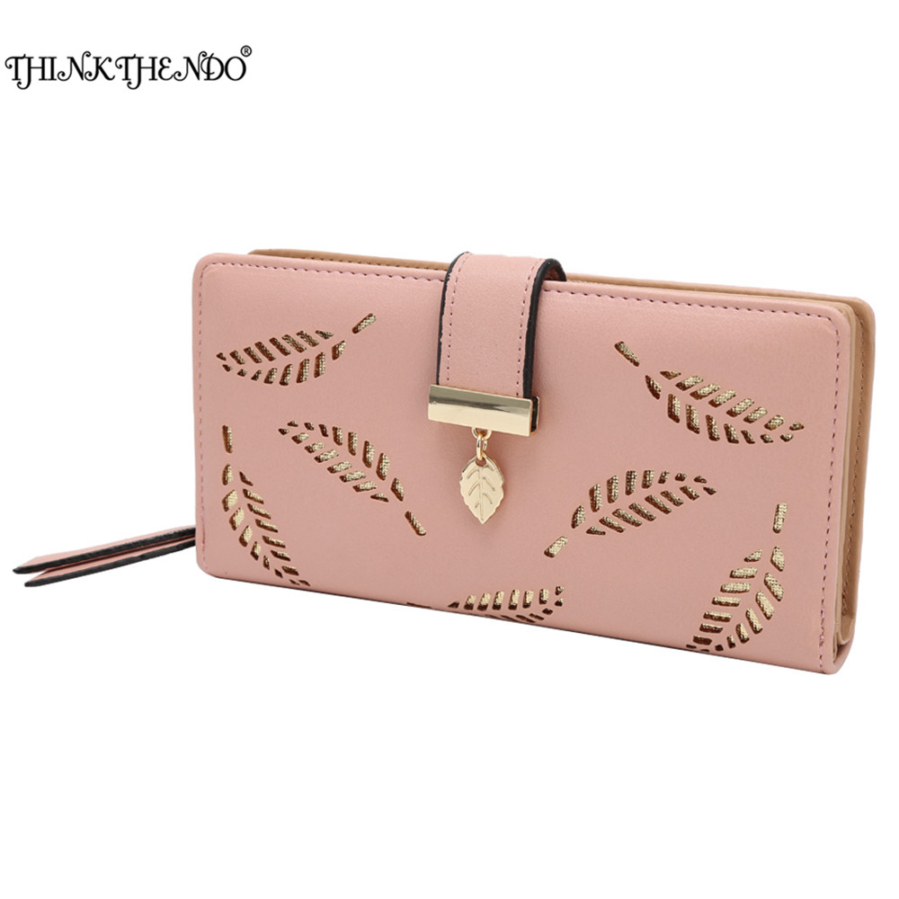 THINKTHENDO High Quality Cell phone Card Holder Long Lady Wallet Purse Clutch Women Wallets Brand Design 5 Color thinkthendo women leather card phone holder long arrow wallet checkbook tassel handbag purse