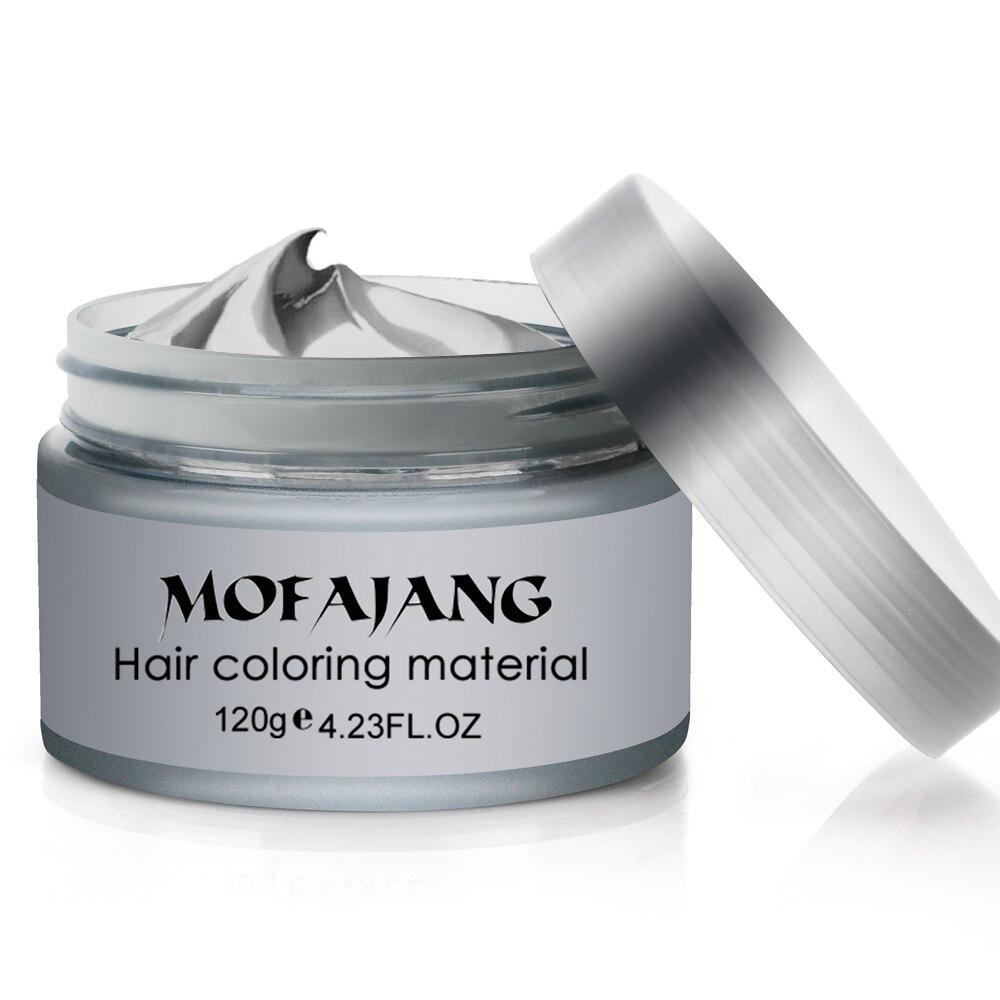Hair Styling Pomade Silver Ash Grandma Grey Fashion Wax Unsex Temporary Disposable Mold Hair Dye Coloring Mud Cream Dropshipping 1