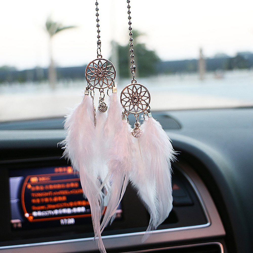 Feather-Decoration Dreamcatcher Car-Pendant Wall-Hanging Wind-Chimes Adornment Mini Gifts