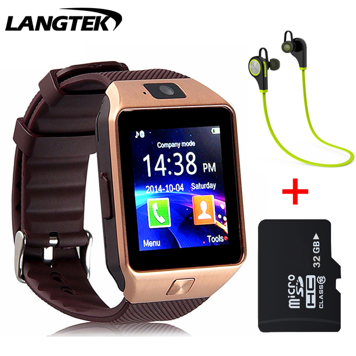 LANGTEK Smart Watch DZ10 for Apple android phone support SIM card reloj inteligente smartwatch pk gt08 wearable smart electronic