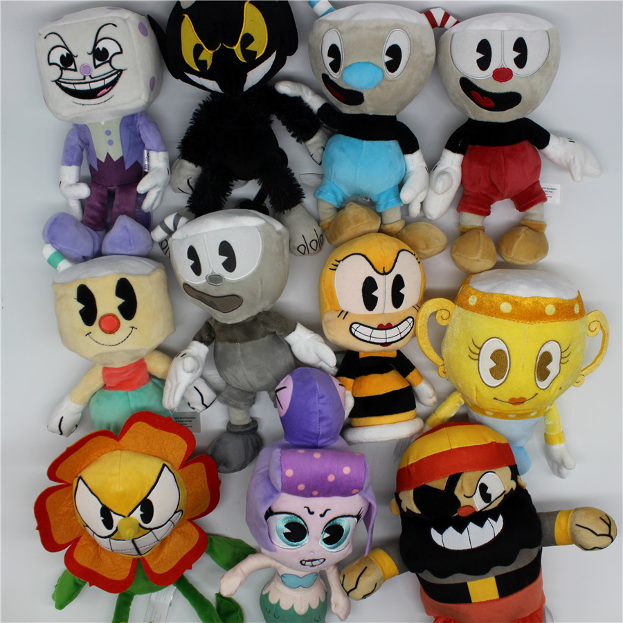 11pcs/set 18 25cm the hot game Cuphead Plush Toy with the