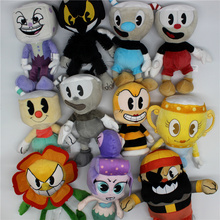 11pcs/set 18-25cm the hot game Cuphead Plush Toy with the newest set Soft Stuffed Doll Cuphead stuffed toys